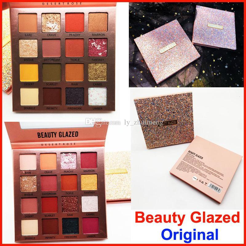 Makeup Beauty Glazed Eyeshadow Desert Rose Eye shadow palette 16 Colors Nude Matte Shiny Pearly Eyeshadow Original Brand Charming Cosmetics