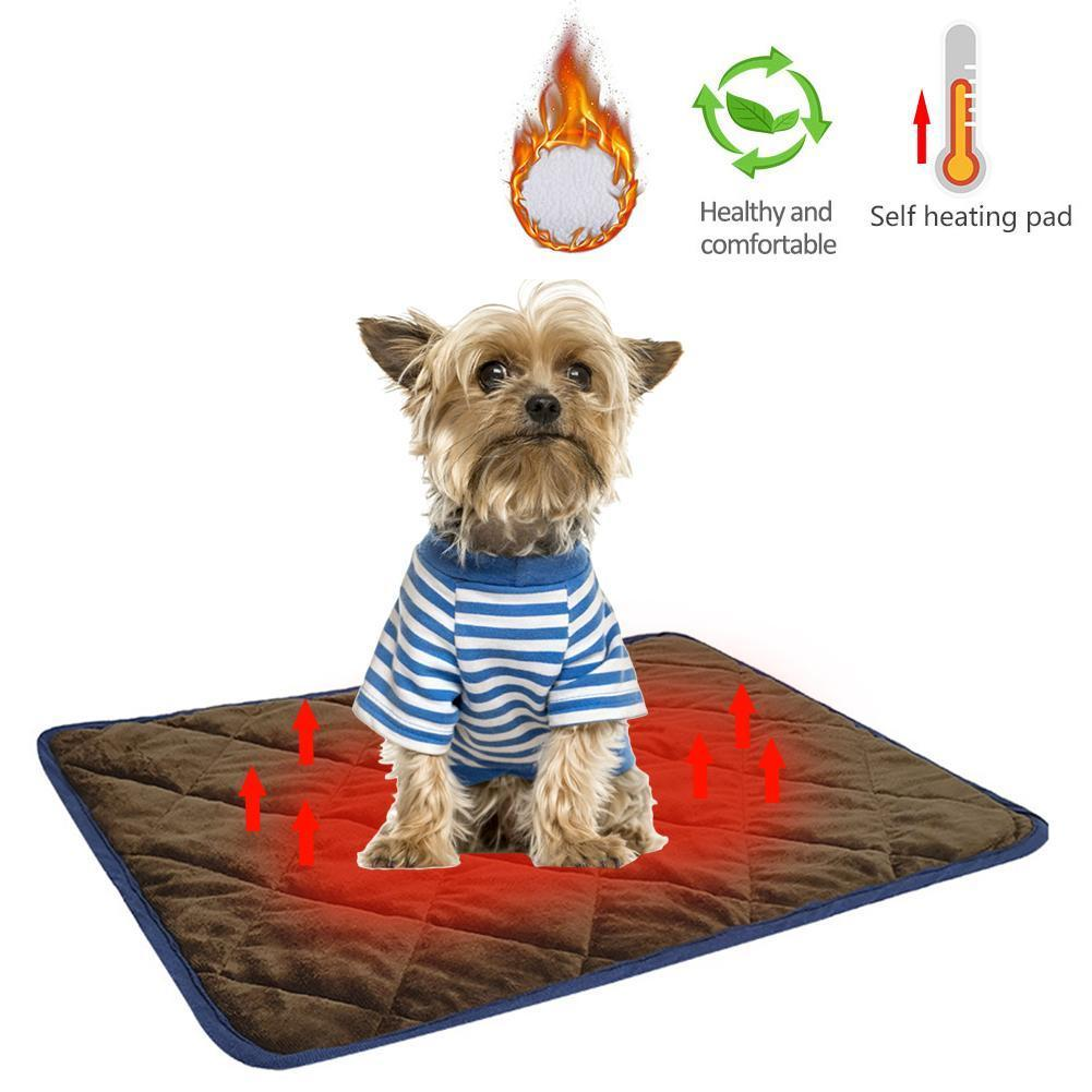 Pets Self Heating Pads Winter Warm Cat Dog Blanket Comfortable Soft Pet Thermal Mats Washable Pillow For Sofas Floors Pet Beds Y200330
