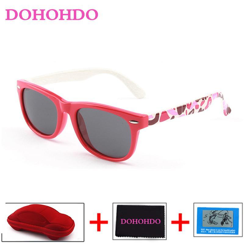 DOHOHDO colorido bonito infantil do bebê óculos polarizados crianças Criança Raparigas Menino Esporte Goggles UV400 óculos de sol Shades Oculos De Sol
