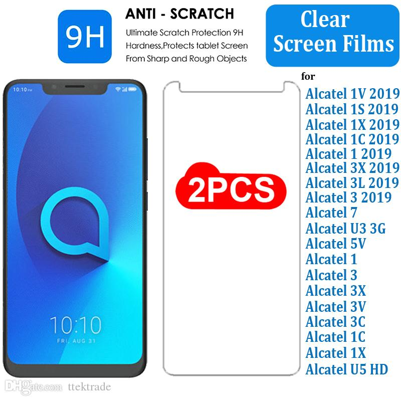 2Pack Tablet Tempered Glass Screen Protector Cover For Alcatel 1T 7