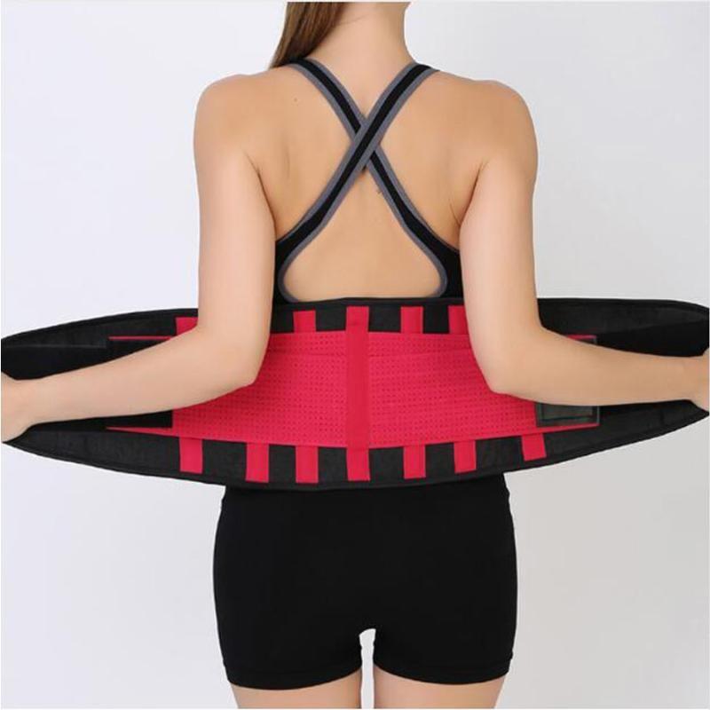 Sports Breathable Waist Support Belt Fitness Waist Trainer Sweat Belt for Women Men Posture Corrector Back Brace Slimming