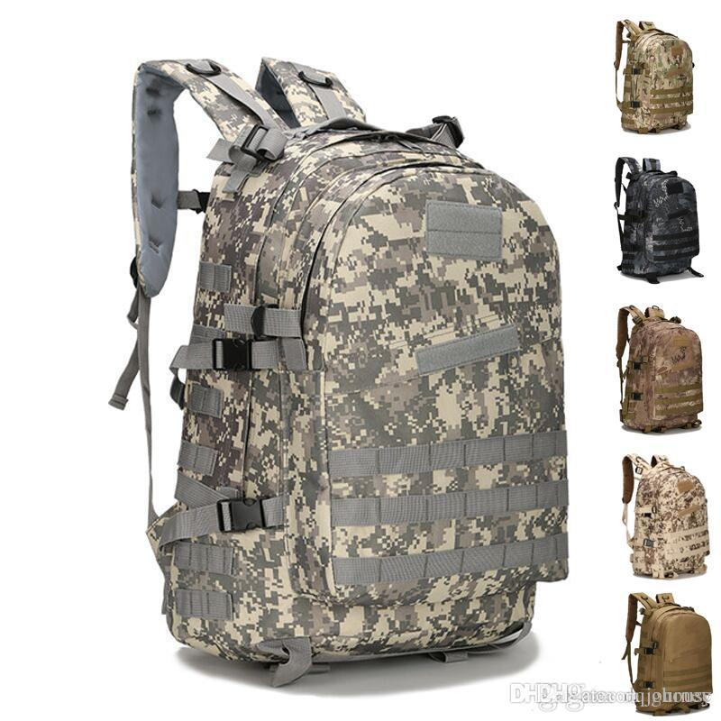 Large Capacity Molle Tactical Backpack Army Assault Bags Outdoor Hiking Trekking Hunting Camping Bag Camouflage Free Shipping