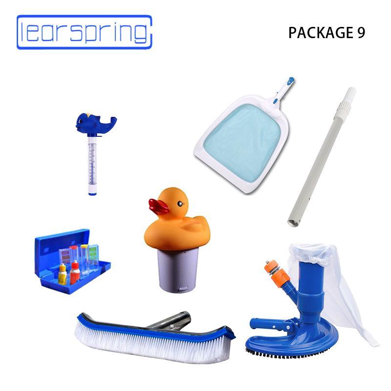 1 много пакета пылесос с щеткой для очистки бассейн и вакуумного инструмент бассейн Аксессуары скиммера Автоматического диспенсера