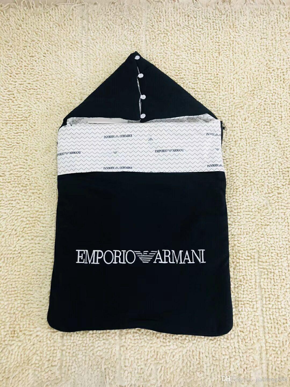새 브랜드 Baby boy Sleeping bag 따뜻한 담요 편지 자수 인쇄 Newborn Slumber bag 고품질 무료 배송