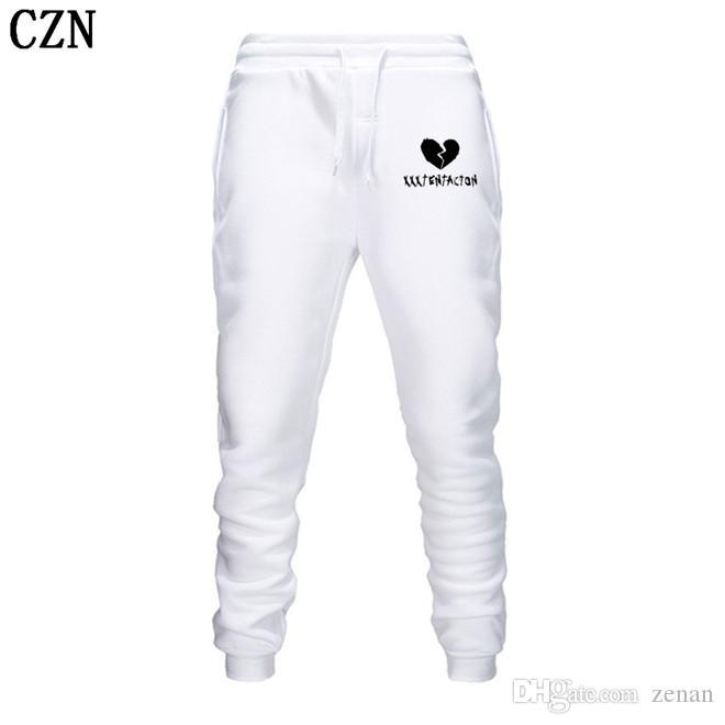 Los hombres de pantalones Streetwear Hip Hop XXXTentacion pantalones casuales hombres de la aptitud Joggers pantalón otoño paño grueso y suave del espesamiento de lazado EL-6