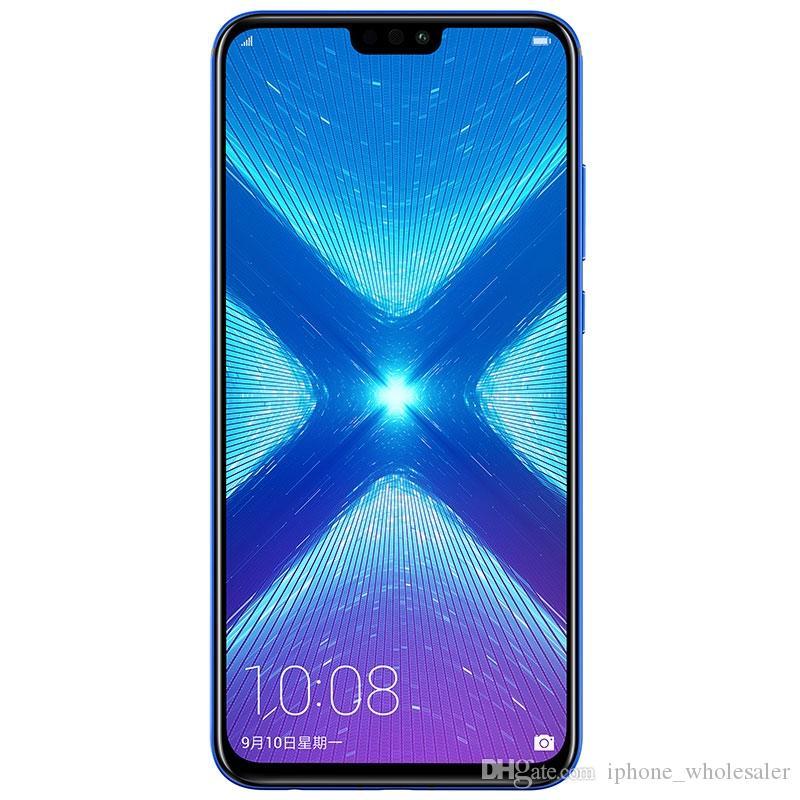 Original Huawei Honor 8X 4G LTE-Handy 4GB RAM 64GB 128GB ROM Kirin 710 Ocra Kernandroid 6,5 Zoll 20.0MP Fingerabdruck-ID-Handy