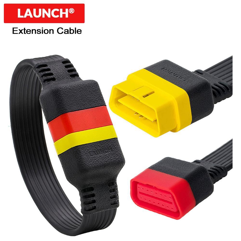 Удлинительный кабель OBD для X431 V / V + / PRO / PRO 3 / Easydiag 3.0 / 2.0 / Mdiag / Golo Основной разъем OBD2 Extended 16-контактный штекер-штекер