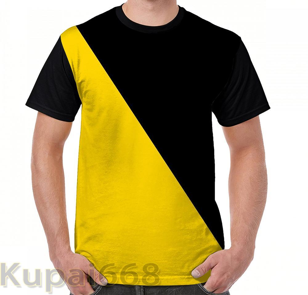 Divertido estampado gráfico de la camiseta de los hombres Tops tees Bandera AnCap camiseta de manga corta camisetas casuales