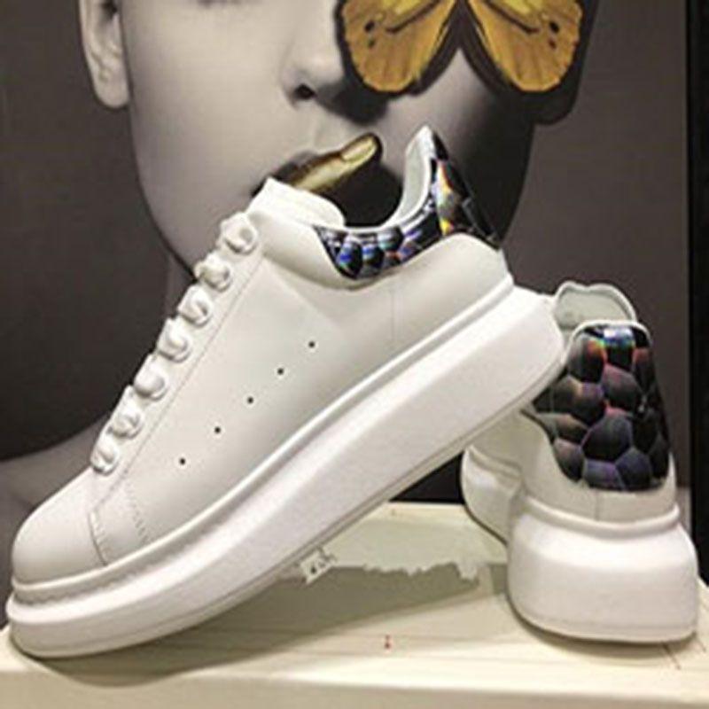 Nuovi pattini degli uomini della piattaforma del cuoio genuina delle donne degli uomini di moda delle scarpe da tennis delle donne Mens scarpe da tennis bianche casuali scarpe di cuoio k2