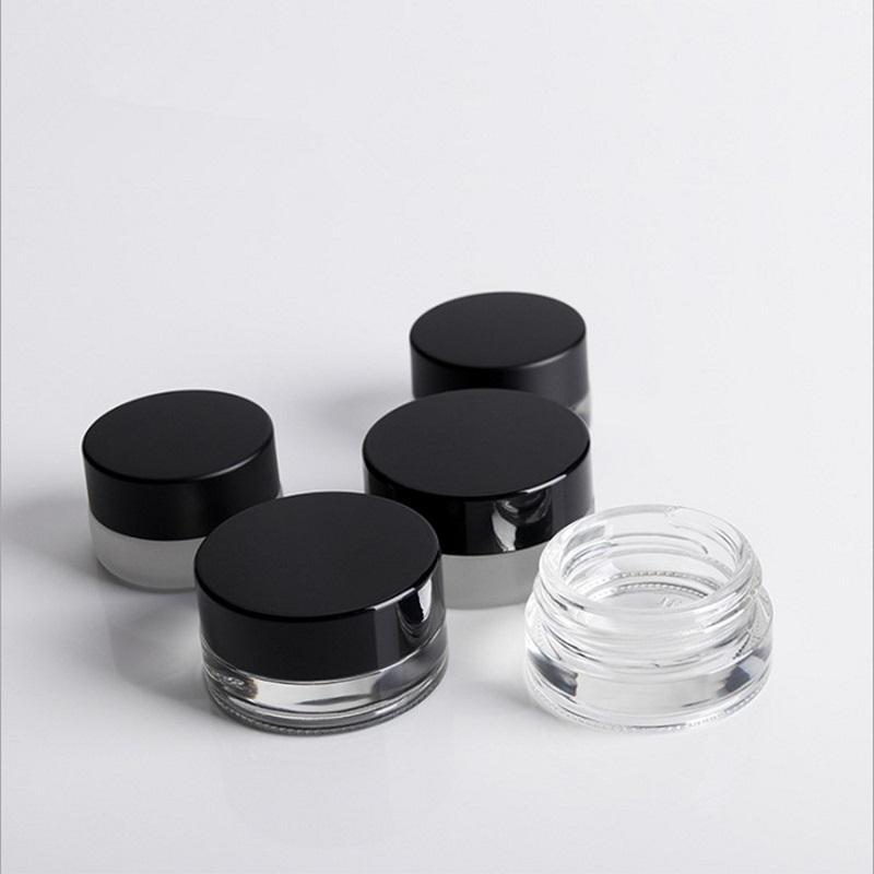 3G 5G Eye Cream Jar Vide Glass Baume Baume Conteneur Large Bouche Cosmétique Échantillon Cosmétique WB2018