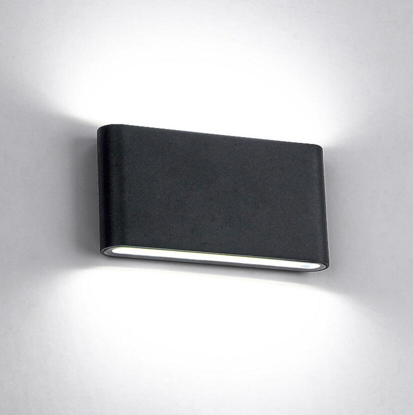 8 pcs 6 W 12 W Lâmpada IP67 Superfície Montada Iluminação Ao Ar Livre Cubo DIODO EMISSOR de Luz, Branco / Preto Para Cima e Para Baixo Lâmpadas de Parede luz Lamparas De Pared