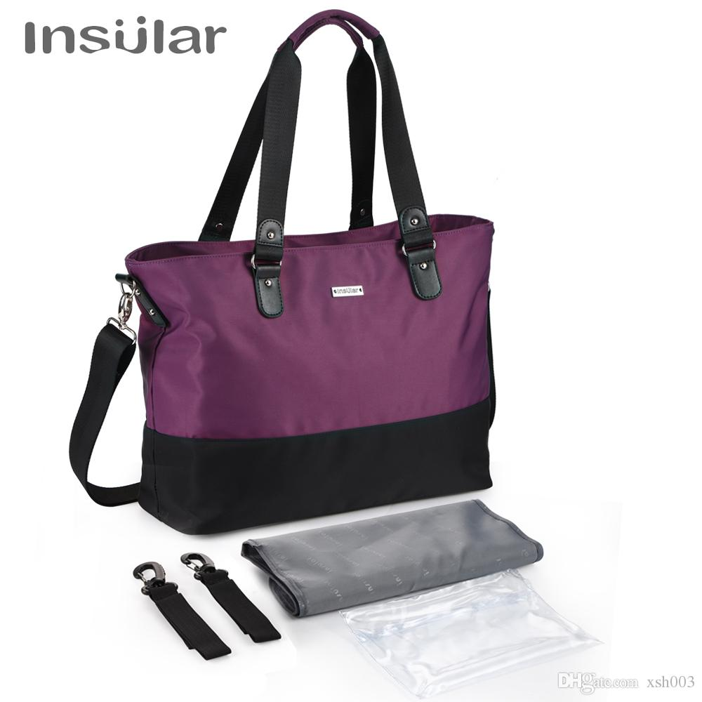 New Maternity Nappy Nursing Bag for Baby Care Large Volume Mommy Changing Bag Baby Bag with Stroller Straps Travel Bags Handbag