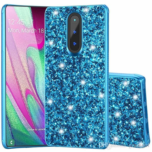 Bling Glitter TPU PC Hard Case For LG K40 K12 Plus 2019 MX42 Coolpad Legacy Veneer Gluing Shiny Sparkle Cell Phone Back Skin Cover 80pcs