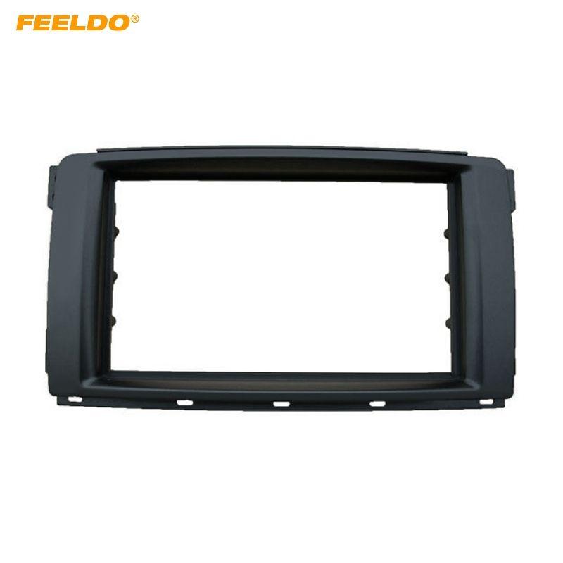 FEELDO 2in 차량용 스테레오 라디오 패널 Fascia Stereo Frame Trim for Mercedes BENZ 스마트 2010 대쉬 리필 키트 # 5113