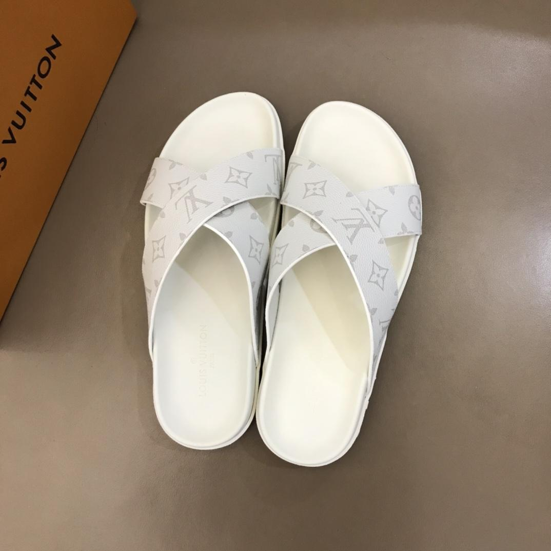 2020 París de lujo del diseñador para mujer para hombre sandalias del verano de la playa de diapositivas zapatillas de lujo señoras de los zapatos ocasionales de cuero de la impresión del color sólido 38-45 0921