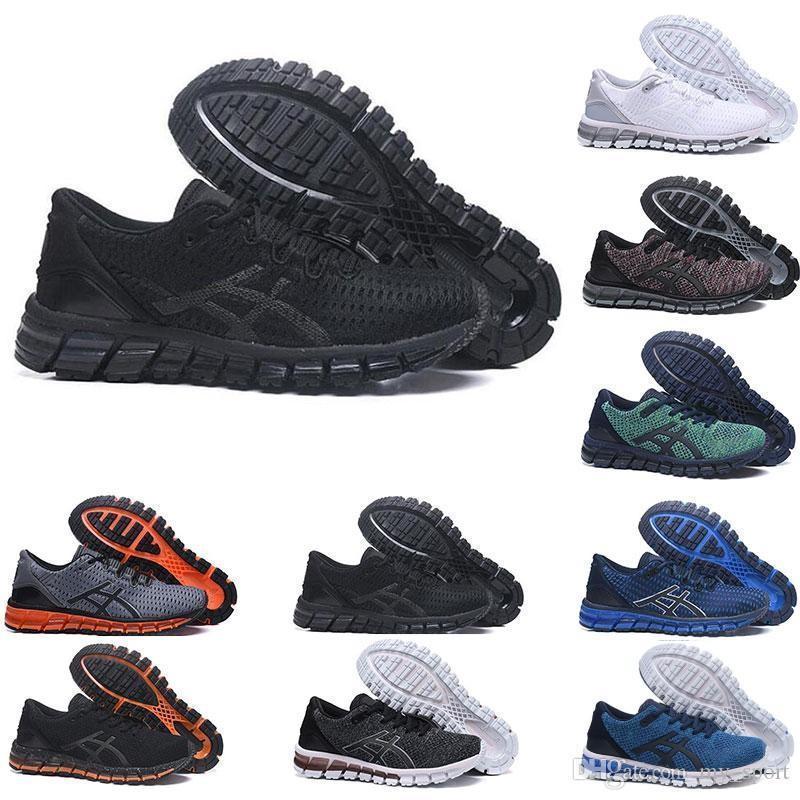 Gel-Quantum 360 DESLOCAMENTO estabilidade Running Shoes T728N pretos brancos de atletismo ao ar livre sapatos Sports Jogging treinador mulheres velocidade tamanho da sapatilha 8-11