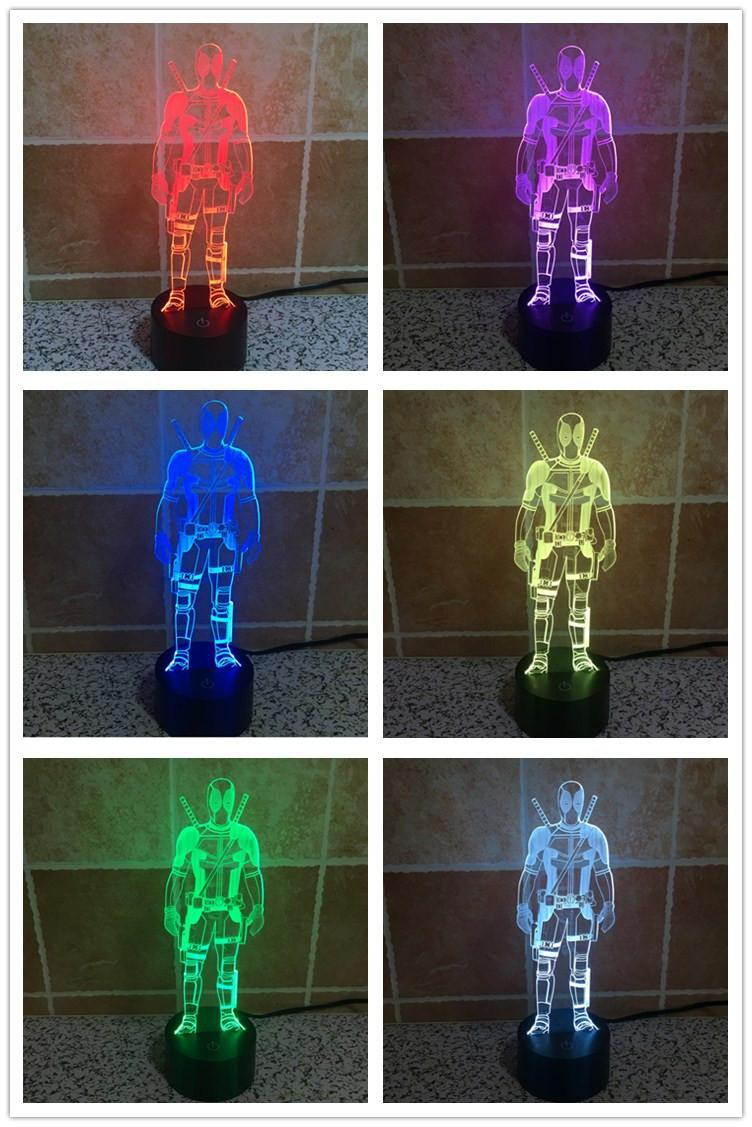 2020 RGB Lights LED Lamp Base for 3D Illusion Lamp 4mm Acrylic Light Panel AA Battery or DC 5V USB 3D nights lights