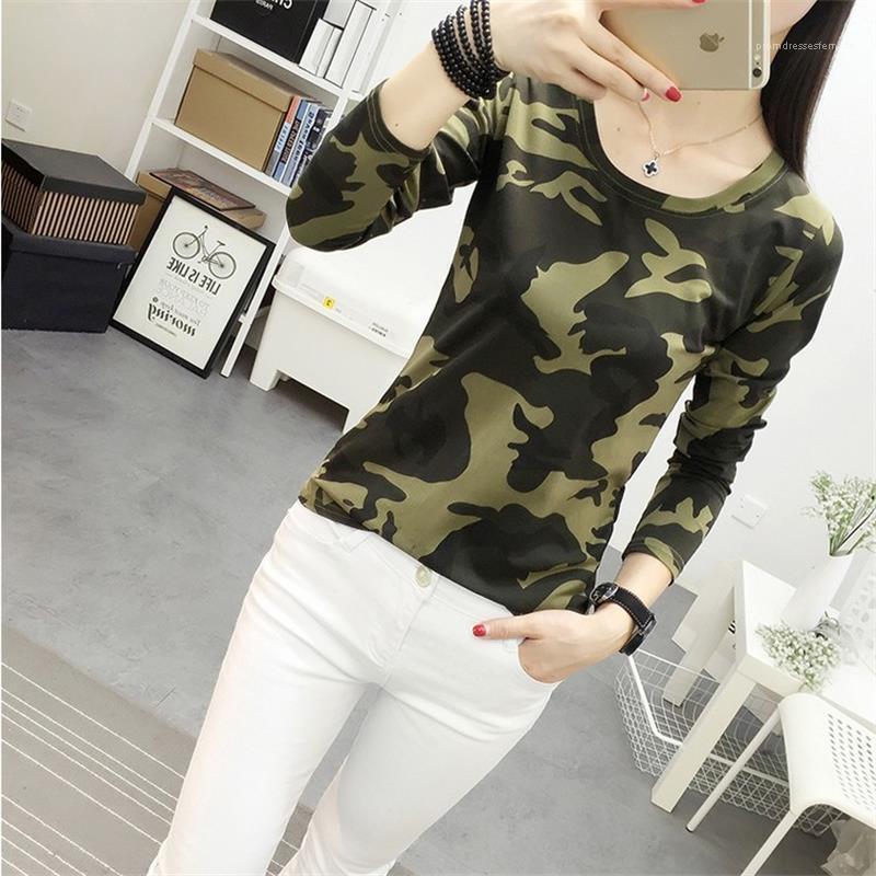 Fashion Slim Ladies T-Shirt Designers Womens Tshirts Summer Casual Short Sleeve O Neck Ladies Camouflage Tops