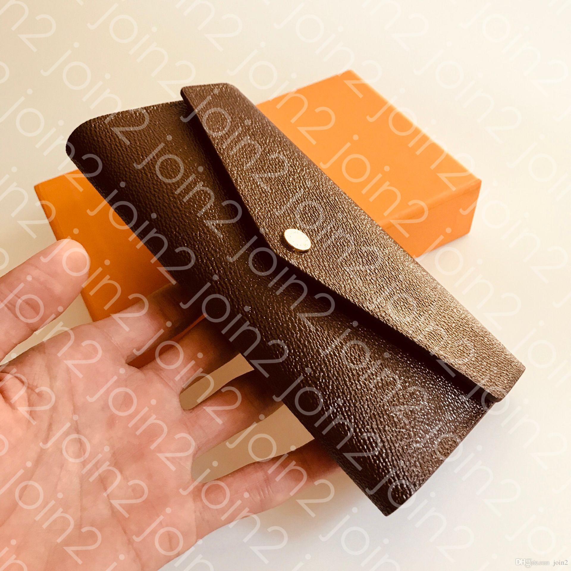 Portafoglio Portefeuille Sarah. Portafoglio del portafoglio del portafoglio del portafoglio del portafoglio del portafoglio della busta di modo delle donne di alta qualità Iconic Brown Impermeabile Canvas M60531 SAC