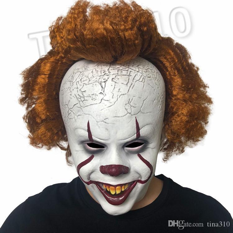 quente Halloween Joker Mask Cap Halloween Party Props pennywise horror máscara Máscaras presente látex chapelaria 11style Partido SuppliesT2I5463