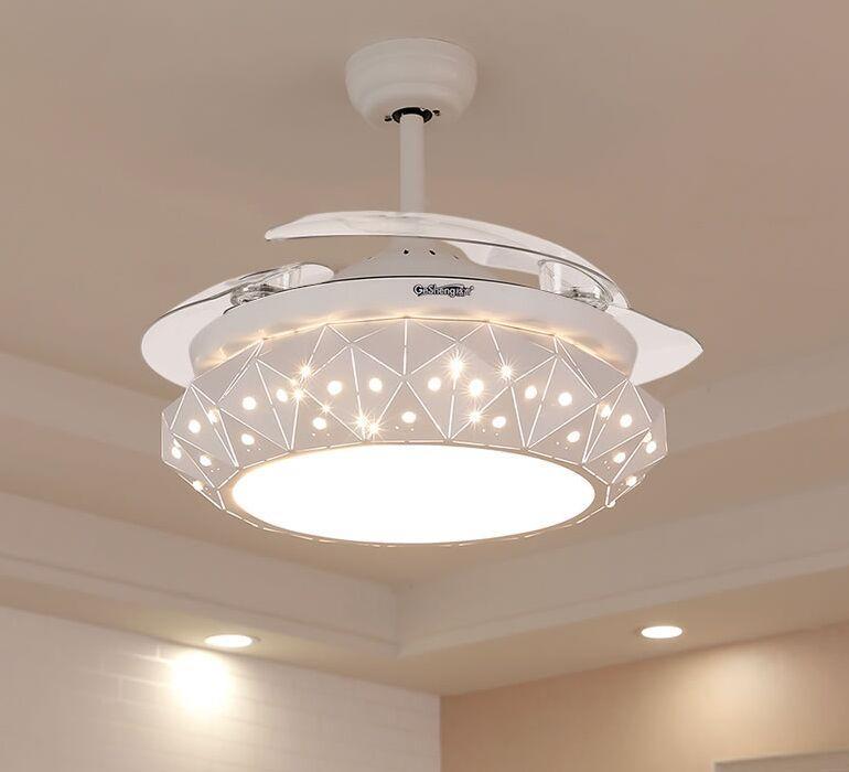 2021 High Quality Modern Luxury Fan Lights Leaf Led Ceiling Fans White 110v 220v Wireless Control Ceiling Fan Light 42inch Myy From Meilibaode2008 232 4 Dhgate Com
