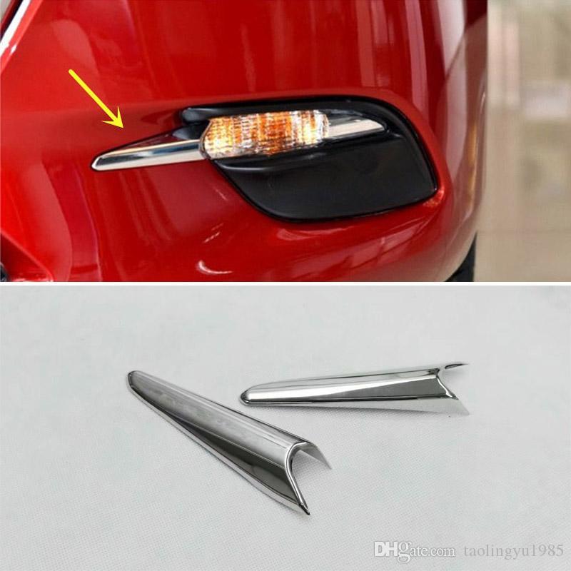 Guarnição nova da lâmpada da luz de névoa da parte dianteira do cromo do ABS para Mazda 3 M3 Axela 2017