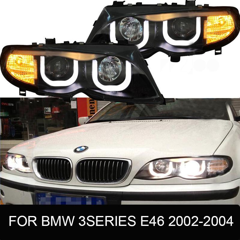 LED Headlights For M3 E92 E93 3 Series E46 E90 2002-2012 led car lights Angel eyes xenon HID KIT Fog lights DRL a