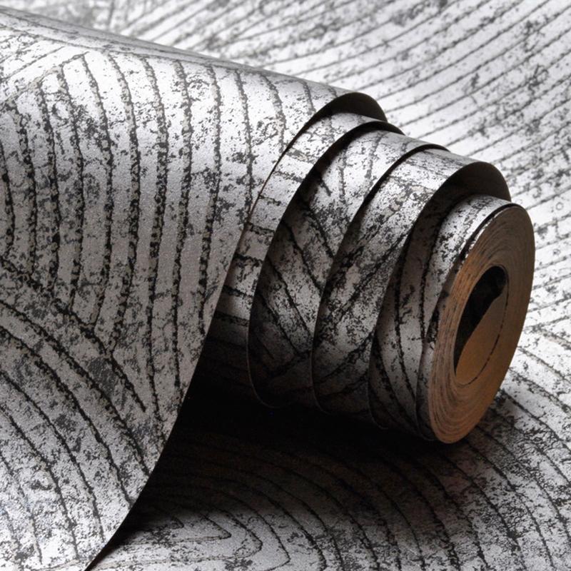 Dark Silver Metallic Schwarz-abstraktes Muster Geometrische Tapete Schlafzimmer Wohnzimmer Hintergrund Dekor-Wand-Papier