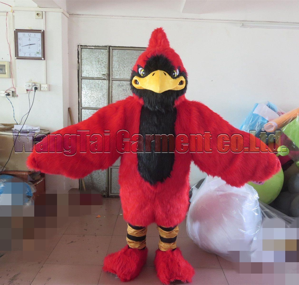 New Red Falcon Vogel Maskottchen Kostüm Erstklassig deluxe Zeichentrickfigur Kostüm Vogelmaskottchenklage Abendkleid Partei Karneval-freies Verschiffen