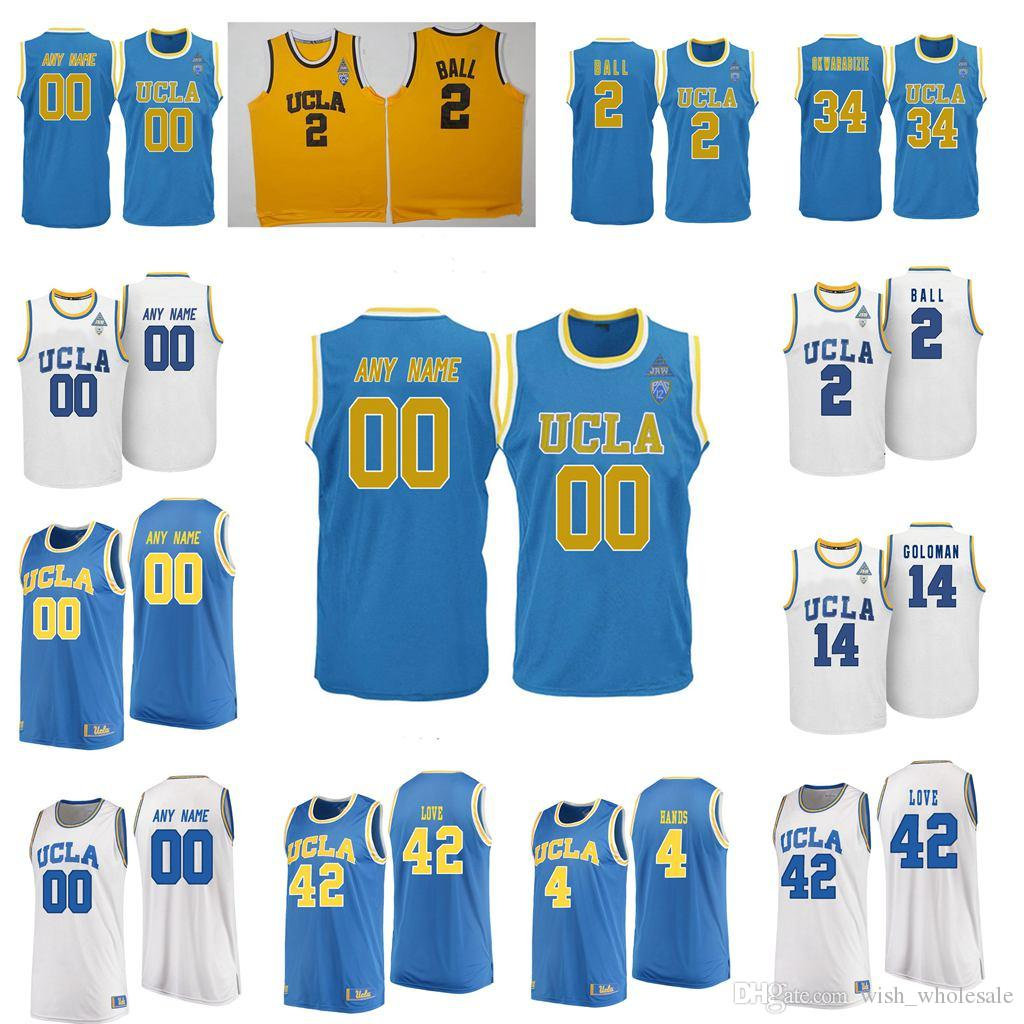 UCLA Bruins Jersey Abdul-Jabbar Jersey 42 Amour Moses Brown Jules Bernard Jaylen Mains Bleu Basketball NCAA Maillots personnalisés Cousu