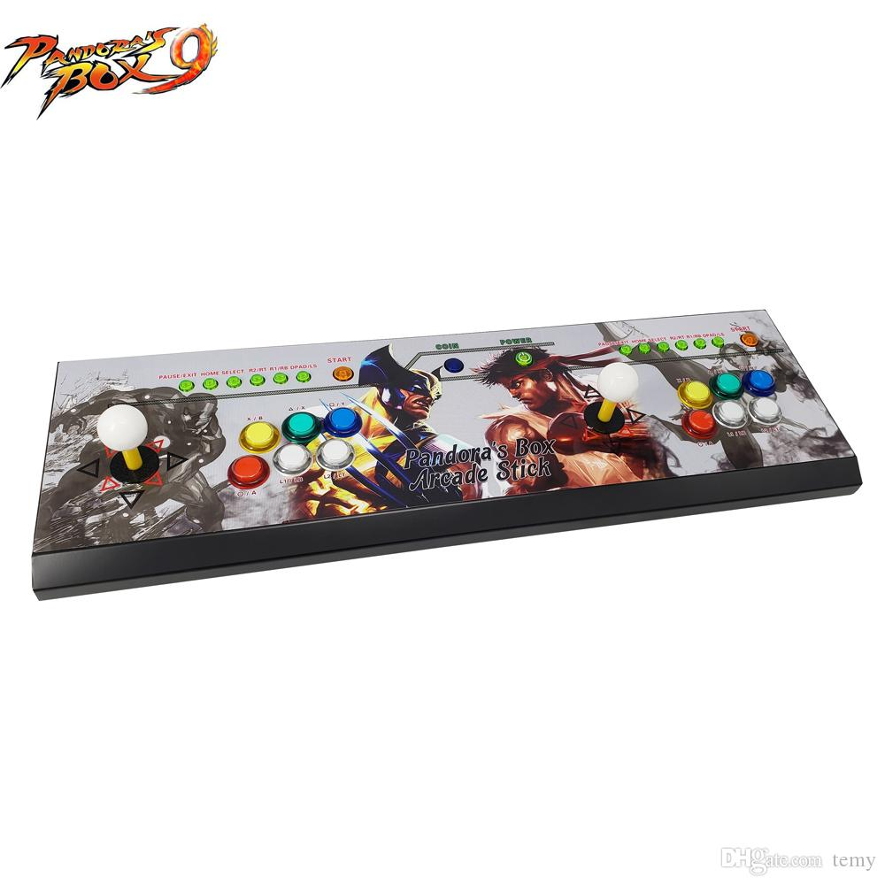 The latest design arcade double rocker game controller with Pandora's Box 9 multi game board ,1500 game in 1