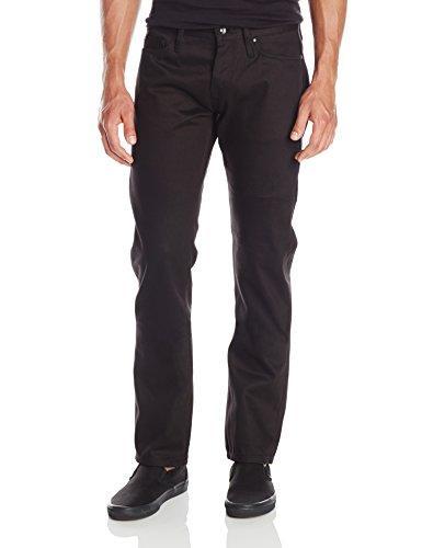 Pantalone chino con cimosa nera affusolata UB255 da uomo senza marchio