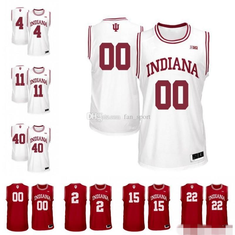 Benutzerdefinierte NCAA Indiana Hoosiers Juwan Morgan Devonte grün Zach McRoberts De'Ron Davis Jerome Hunter Oladipo Zeller Basketball Trikots billig
