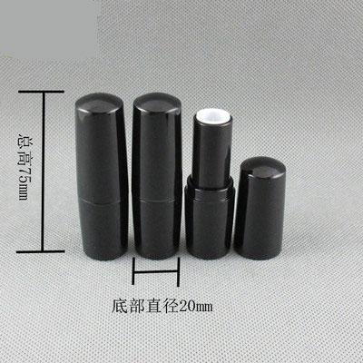 300 шт / много пустых губная помада пробки 4мл 4g черный трубы DIY Домашнее Упаковка многоразовой Блеск для губ бальзам для губ контейнеры