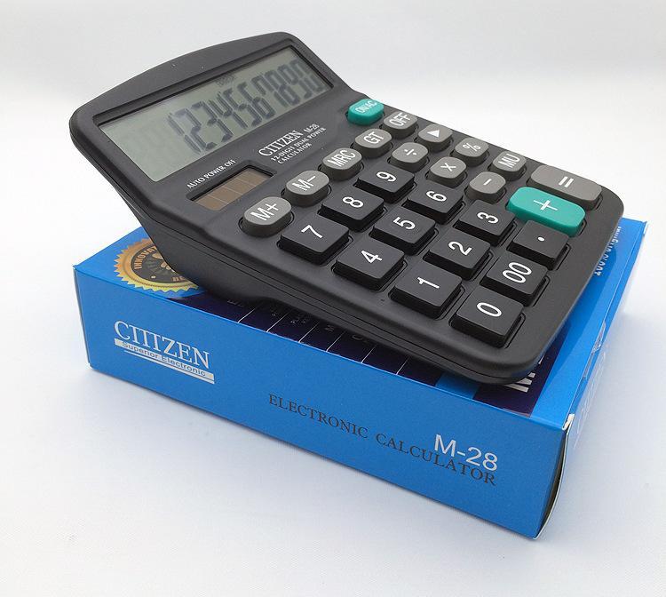 Calculator Office Supplies Students Bisiness Desktop 15*12 CM Dual Power Solar Battery computer 12 digits customizable logo