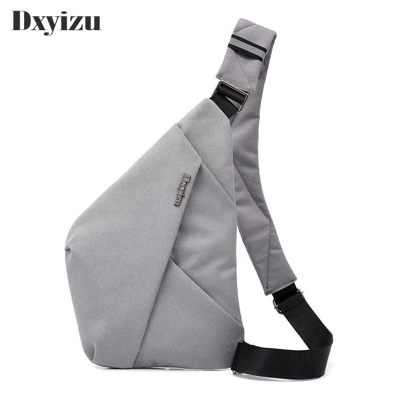 2020 La pechera de los hombres de bolsos de los hombres solo hombro bolsas impermeables de nylon del recorrido de Crossbody del antirrobo simple prueba de agua