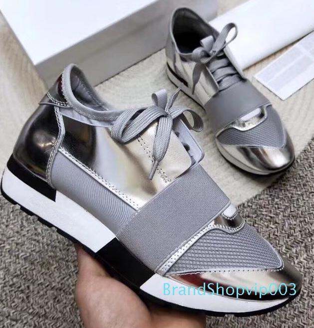 Designer Sneakers Unisex Zapatos Mujer corridore corsa Scarpe Uomo Donna Casual Shoes Vera Pelle Mesh appuntiti Trainers punta mn189601