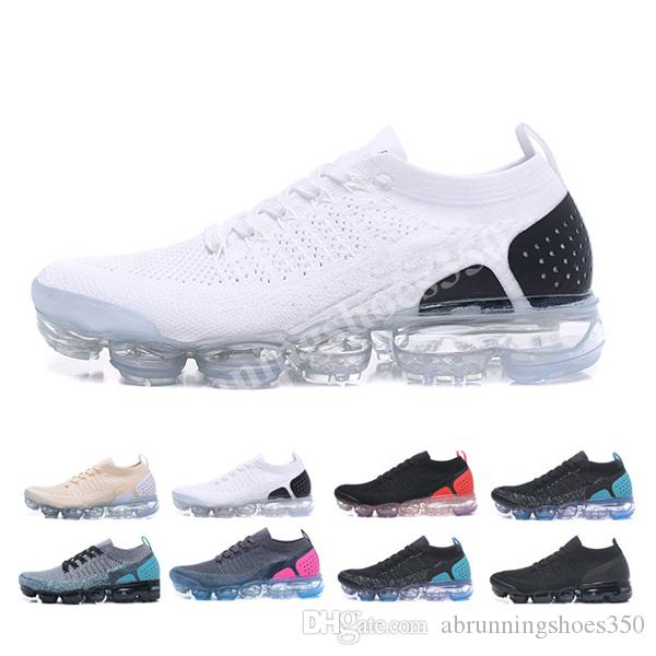 Nike Vapormax flyknit air max 2020 Hot Chaussures Moc 2 senza lacci 2.0 pattini casuali Triple Mens Sneakers donne Fly nero maglia cuscino d'aria Sport Trainers Zapatos BBH3652