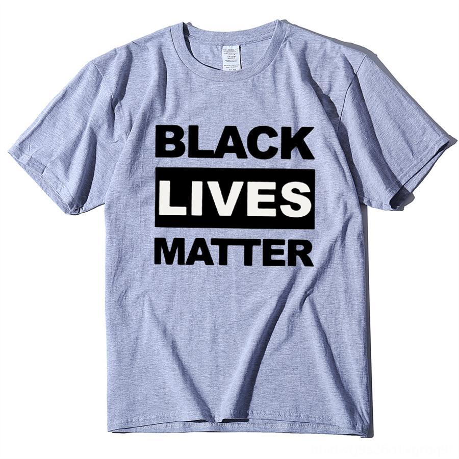 qusAh Gerechtigkeit für George -Shirt T Floyd Men Schwarz lebt, kann ich Matter 'T Breathe T Tops O -Neck kurze Hülsen-städtisches T-Shirt Kleidung