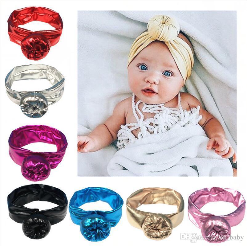 Bandeau de dorure pour bébé avec ballon Kids Girl Boy Bandeau élastique Couleur unie Toute la saison 7Colors choisir