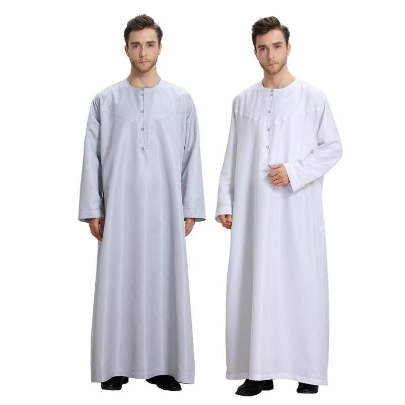 Eid De Mode Homme musulman Homme Abaya musulman Robe Abayas Robe Arabie Saoudite Kleding Mannen Kaftan Oman Pakistan Islam Vêtements