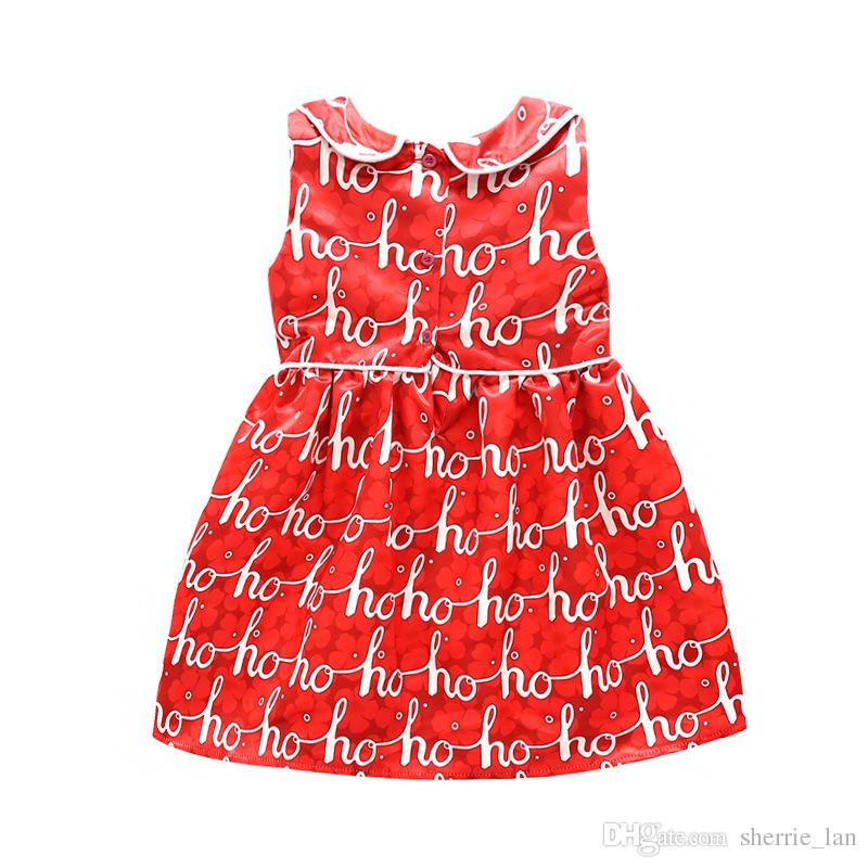 Latest Baby Children's wear Good Quality Casual Cotton Linen Summer Baby Girl Dresses Style Baby Red Frock Designs Sleeveless Skirt