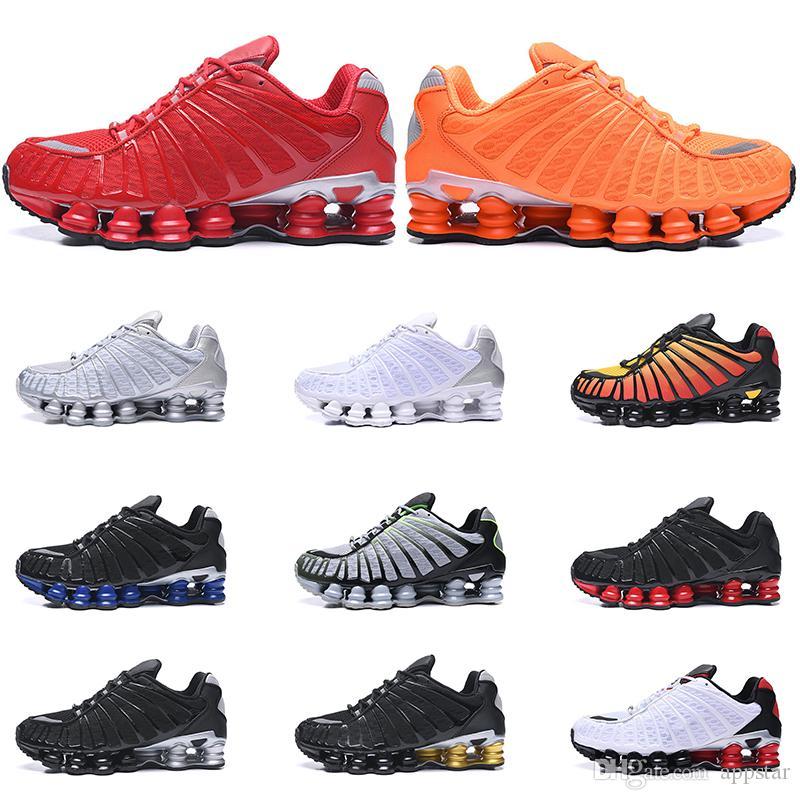 Nike Shox TL Hombres Zapatos Pura Explosión Entrenadores Deportivos Platino  Negro Gris Salida Del Sol Cal Triple Tamaño De La Zapatilla De Deporte ...