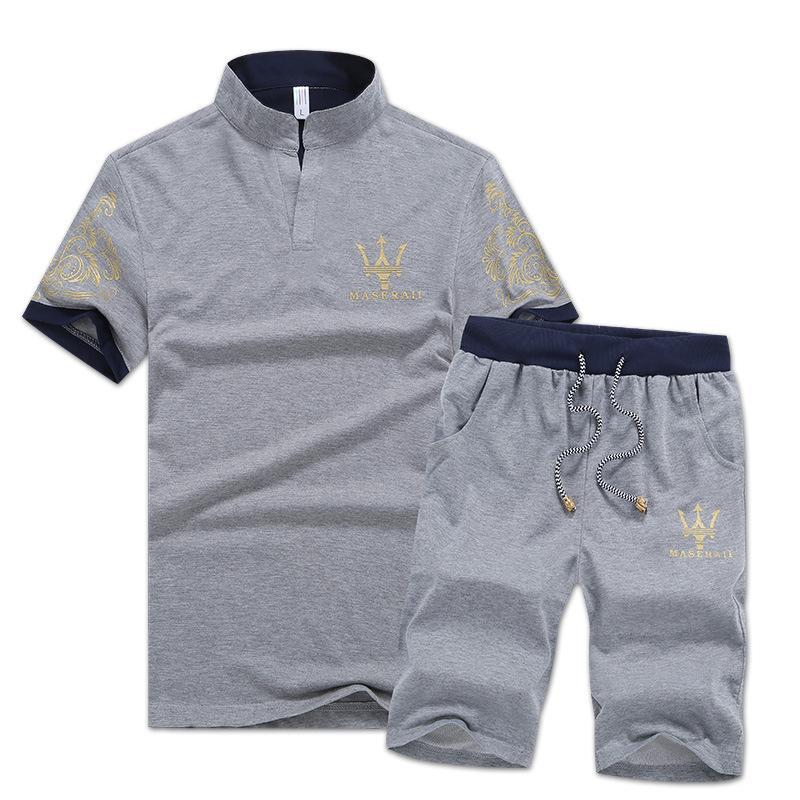 T-shirt + pantaloni estivi da uomo di lusso di marca di moda firmati T-shirt + pantaloni Abbigliamento sportivo Set casual Manica corta Corsa da jogging Migliore qualità Plus Size