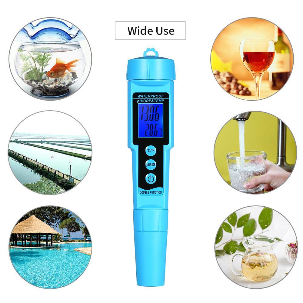 Professional 3 In 1 Ph Orp Temp Meter Water Detector Multi-parameter Digital Tri-meter Water Quality Monitor Tester T8190619