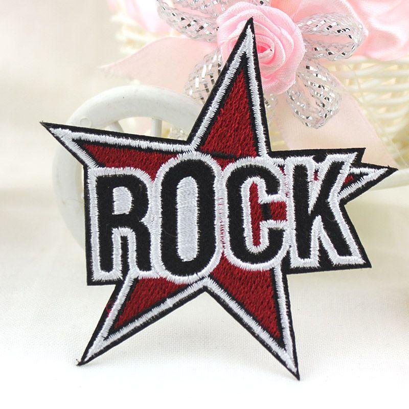 Рок Letters панка железа на вышитые Одежда патч для одежды Наклейки для одежды Аппликации оптом