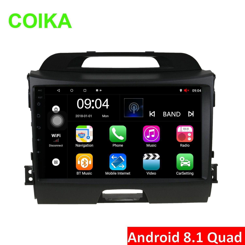 "COIKA 9"" Android 8.1 System Car DVD Radio Stereo For Kia Sportage 2010-2015 GPS Navi 2+32G/1+16G BT WIFI RDS Google SWC A2DP OBD DVR AUX USB"