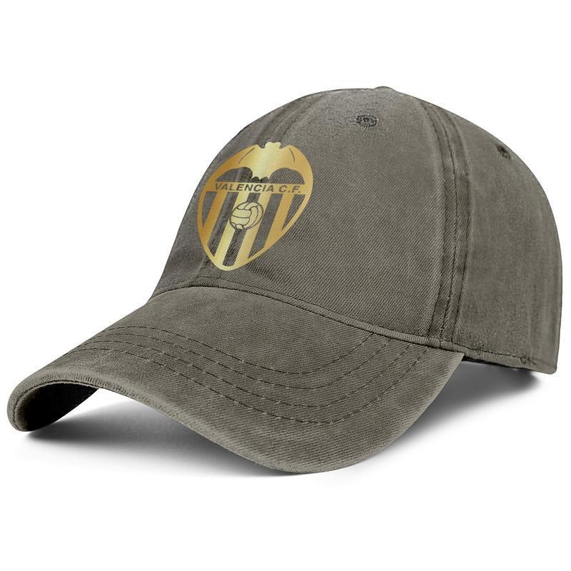 Şık Valencia CF Los Ches VCF Sıkıntılı Unisex Denim Baseball Cap Soğuk Özel Şapkalar Flaş altın Gey gurur gökkuşağı serisi Gri astar