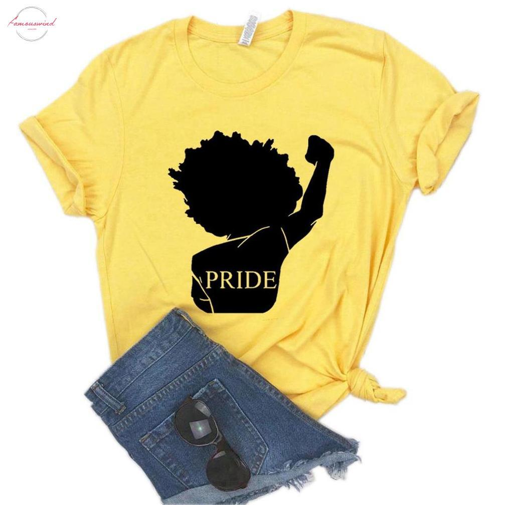 Afrique noire Fierté puissance posters Femmes T-shirt Coton Hipster T-shirt drôle cadeau Lady Yong Girl Top T-6 couleurs Goutte Zy