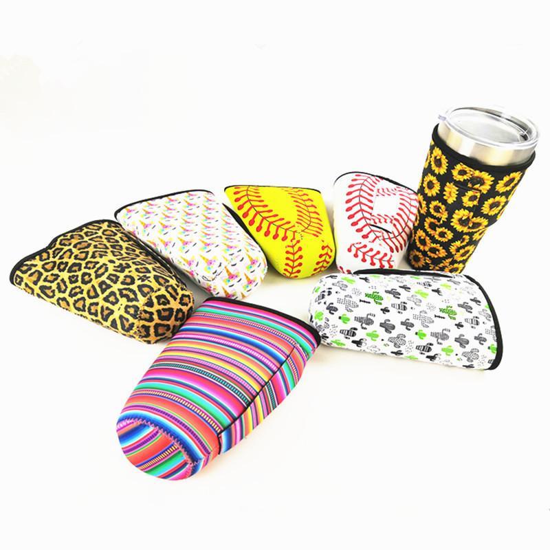 Neopren Drinkware Su Şişesi Kol 30oz Tumbler Cup Leopar, Gökkuşağı, Ayçiçeği, Mermaid Baskı